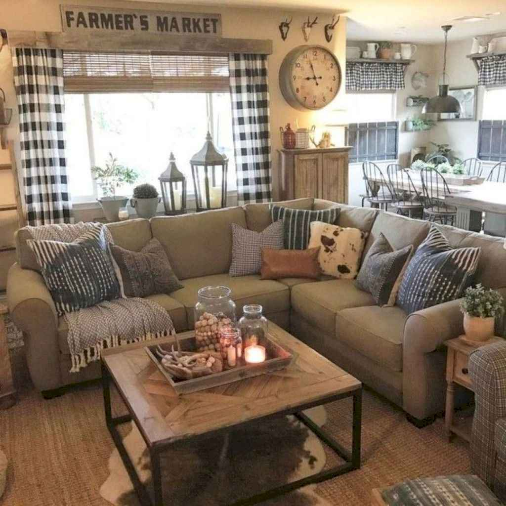 62 Cozy Modern Farmhouse Living Room Decor Ideas