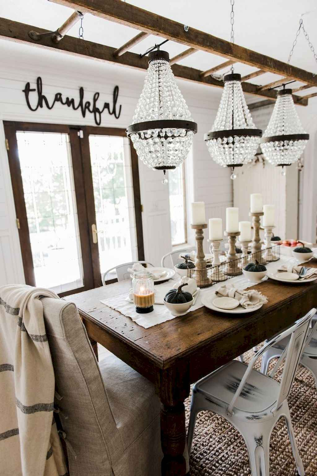 65 Beautiful Farmhouse Dining Room Table Design Ideas